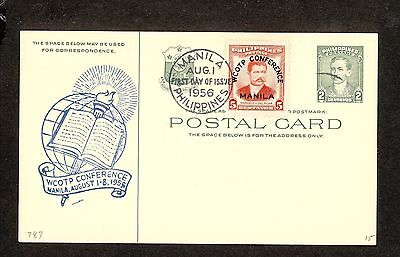 WC5289 1956 Philippines First Day Cover