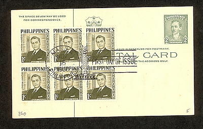WC5305 1960 Philippines First Day Cover Block of 6