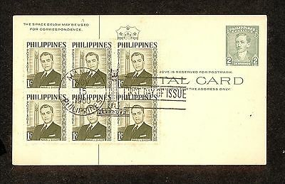 WC5306 1960 Philippines First Day Cover Block of 6