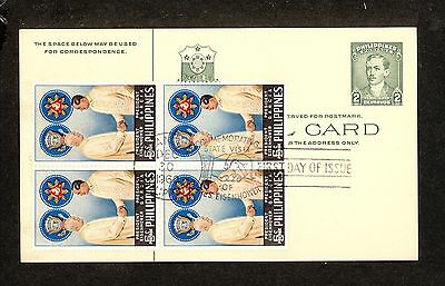 WC5310 1960 Philippines First Day Cover Block of 4