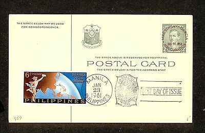 WC5312 1961 Philippines First Day Cover Block of 4