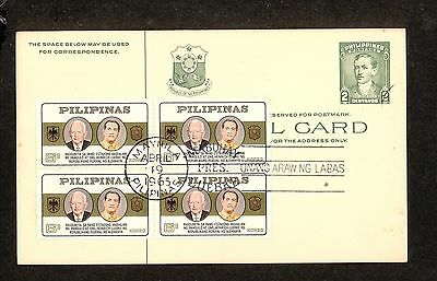 WC5334 1965 Philippines First Day Cover Block of 4