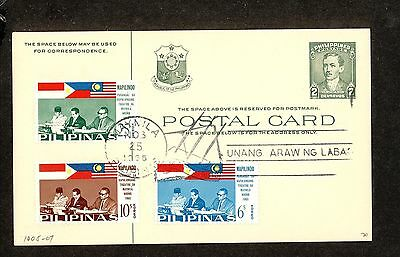 WC5337 1965 Philippines First Day Cover Postal Card