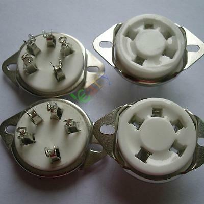 4pc 5pin New Ceramic Tube Sockets for 807 5-21 US style  audio amps diy guitar