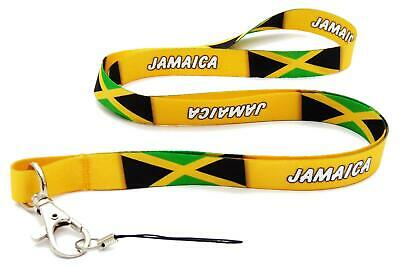 Jamaica Lanyard Neck Strap + Mobile Id Keys Ipod Mp3 Holder Free Uk Delivery