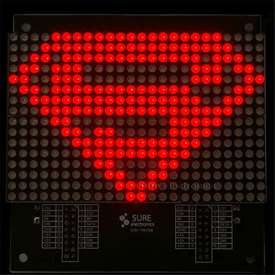 24 X16 2416 Red LED 3mm Dot Matrix Display Information Display Board