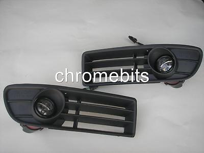 Front Grille Fog Lights Projector Lamps Set For Vw Bora 1997-2004 New