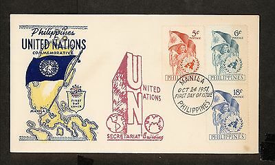 WC5392 1951 Philippines First Day Cover