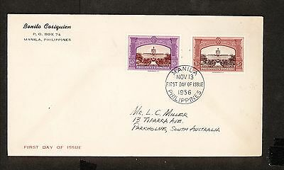 WC5413 1956 Philippines First Day Cover
