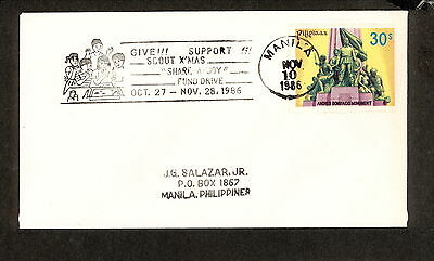 WC5421 1986 Philippines First Day Cover