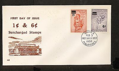 WC5422 1959 Philippines First Day Cover