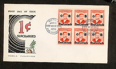 WC5434 1959 Philippines First Day Cover
