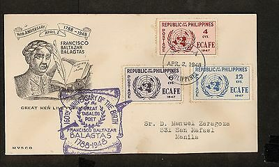 WC5442 1948 Philippines First Day Cover
