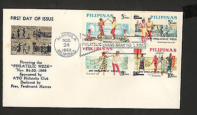WC5443 1969 Philippines First Day Cover