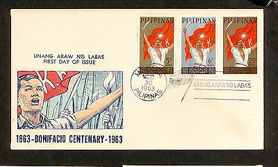 WC5450 1963 Philippines First Day Cover