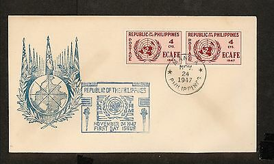 WC5454 1947 Philippines First Day Cover