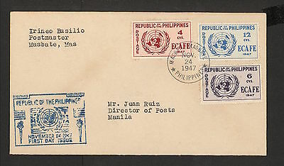 WC5455 1947 Philippines First Day Cover