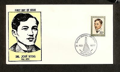 WC5465 1977 Philippines First Day Cover