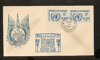 WC5466 1947 Philippines First Day Cover