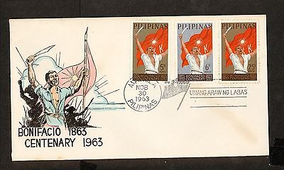 WC5468 1963 Philippines First Day Cover