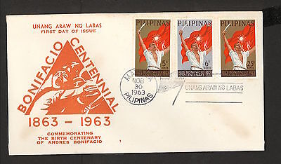 WC5472 1963 Philippines First Day Cover