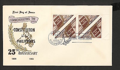WC5475 1960 Philippines First Day Cover