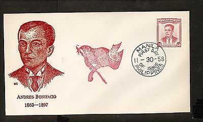 WC5477 1958 Philippines First Day Cover