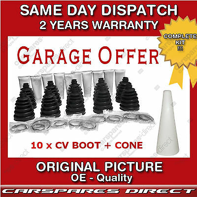 10 x OUTER DRIVESHAFT CV JOINT CV BOOT KIT-GAITER- STRETCH + 1x FITTING CONE NEW