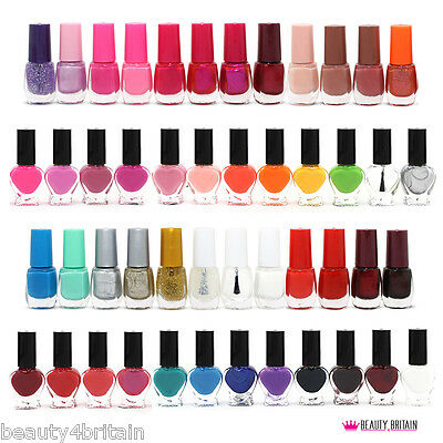 50 x Nail Varnish Polish for Artificial Nails Many Different Colours