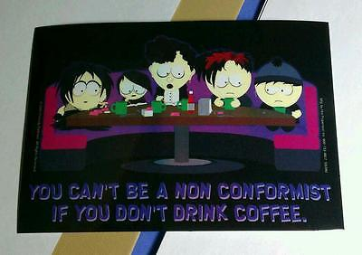 South Park You Cant Be A Non Conformist If You Dont Drink Coffee Fun Tv Sticker