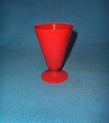Fire King Glass Red Footed 15 oz Tumbler