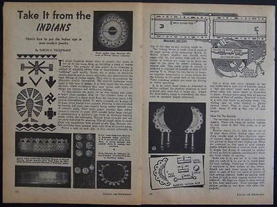 Seminole INDIAN Jewelry Designs 1948 How-To PLANS metal