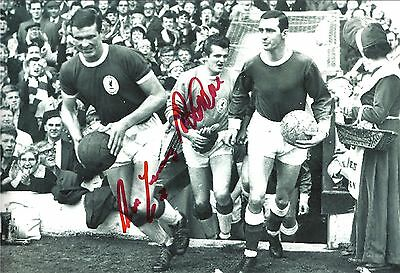 A 12 x 8 inch photo personally signed by Tommy Lawrence & Ron Yeats of Liverpool