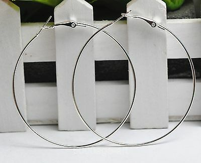 20pcs silver plate Wholesale jewelry Lot Circle Basketball Hoops Earrings 50mm