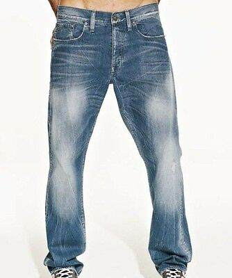 "G-Star Raw Mens Boys 3301 Straight Jeans 28"" x 34"" BNWT Master Denim Cote Wash"