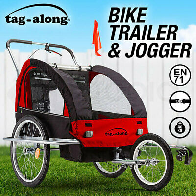 NEW Tag-along Kids Bike Trailer Child Bicycle Pram Stroller Children Jogger Red
