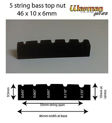 5 string bass black top nut 46x10x6m