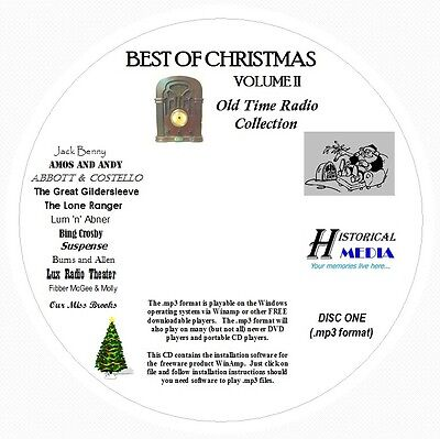 CHRISTMAS OLD TIME RADIO COLLECTION (VOL 02) - 124 Shows MP3 Format OTR 2 CDs