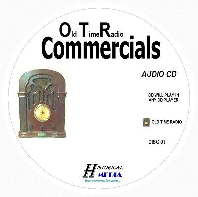 OLD TIME RADIO COMMERCIALS - 143 Commercials 2 Audio CDs Play In Any CD Player