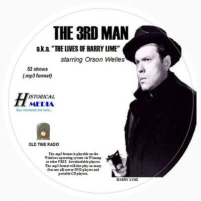 THE THIRD MAN - THE LIVES OF HARRY LIME  52 Shows Old Time Radio MP3 Format 1 CD