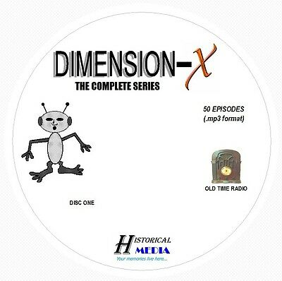 DIMENSION-X - 50 Shows Old Time Radio In MP3 Format OTR On 2 CDs