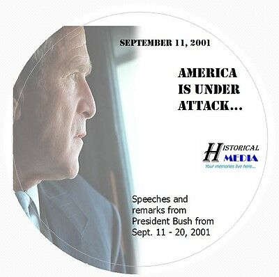 George W. Bush Speeches & Remarks Following September 11 Attacks On 1 Audio Cd