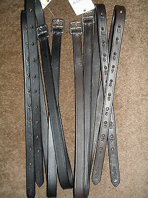 """GREAT PRICE!! GREAT QUALITY! ADULT  STIRRUP LEATHERS 2 COLOURS 54"""" x 1"""""""