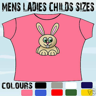 Cute Bunny Rabbit T-Shirt All Sizes & Colours