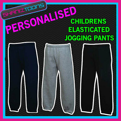 Boys Girls Jogging Pants Joggers Jog Pants Personalised Club Logo Printed