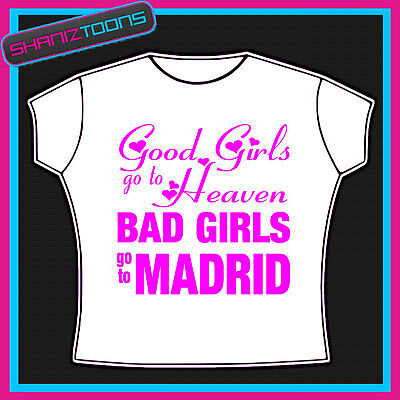 Madrid Girls Holiday Hen Party Printed Tshirt