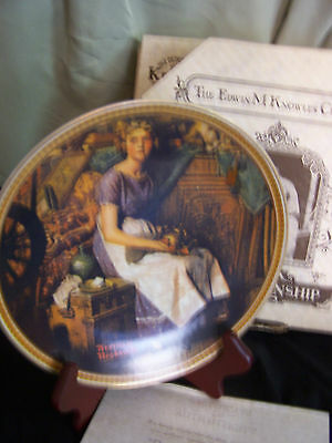 "Knowles Rockwell Dreaming in the Attic 8 1/2"" Collector Plate 85 w/COA #8401R"
