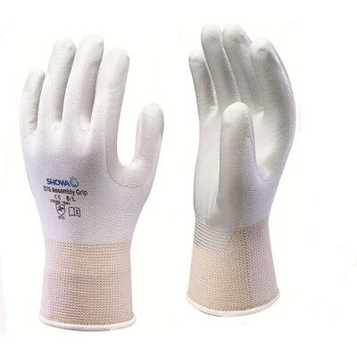 10 Pairs of - SHOWA 370 Assembly Grip Gloves - Nitrile Palm Coated