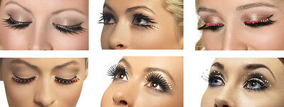 424dbcbf391 Fever False Eyelashes Crystals Droplets Sparkles Smiffys Fashion Accessories