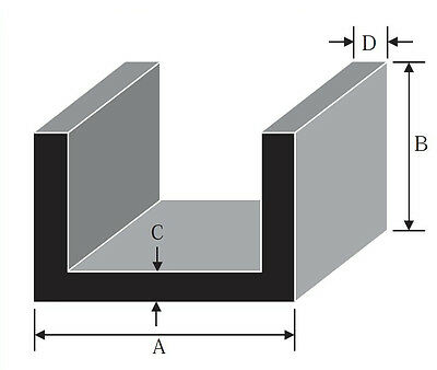 Aluminium Channel - U Section, C Section, various sizes / lengths cut to size